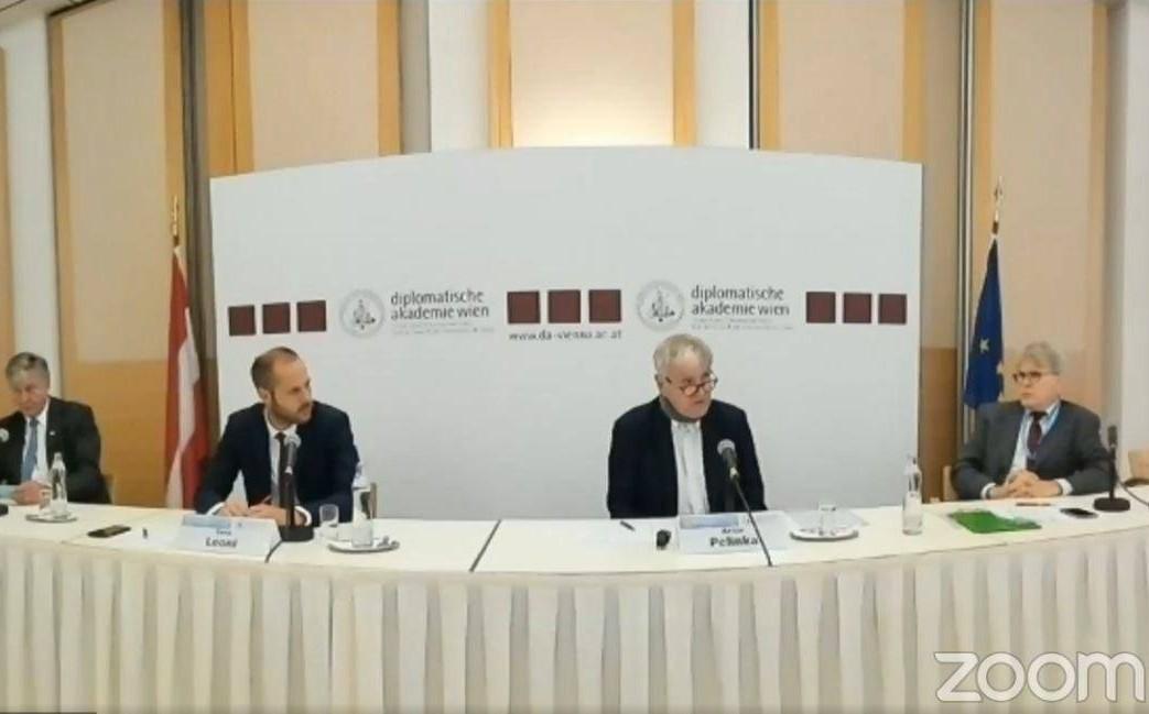 Učesnici konferencije u Beču (Foto: Snimak ekrana)