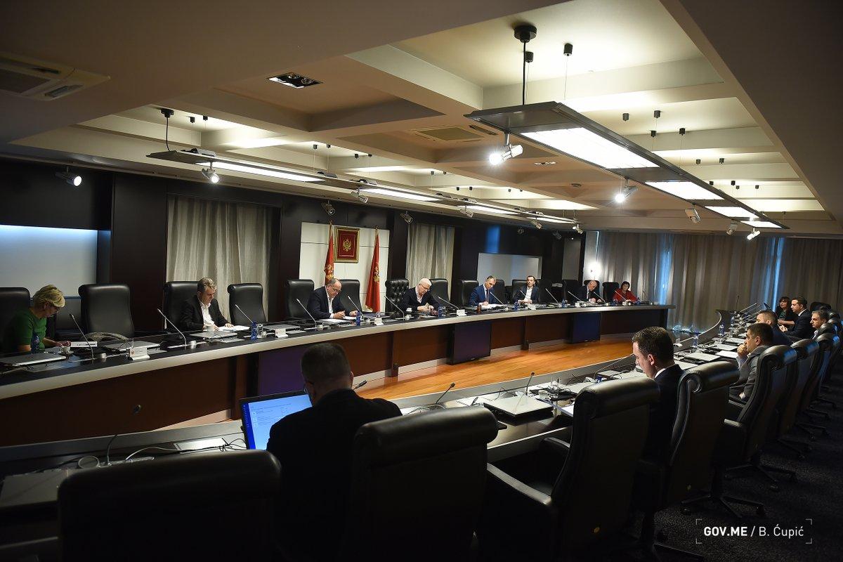 Sednica Nacionalnog koordinacionog tijela za zarazne bolesti (NKT) (Foto: Tviter/Vlada Crne Gore/B. Ćupić)