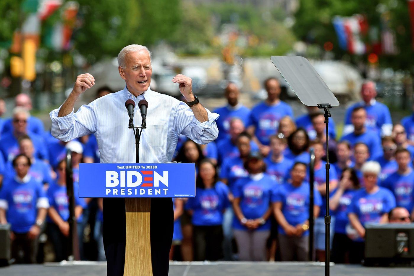 Predsednički kandidat Demokratske stranke, Džozef Bajden, tokom mitinga u Filadelfiji u maju 2020. (Foto: Tom Gralish/Staff Photographer/Philadelphia Media Network)