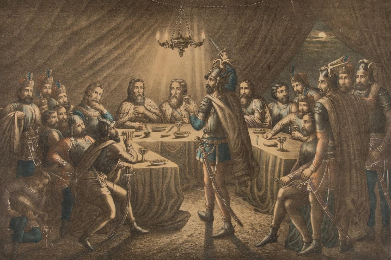 """Adam Stefanović, """"Večera kneževa na Kosovu"""", 1871. (Foto: narodnimuzej.rs)"""