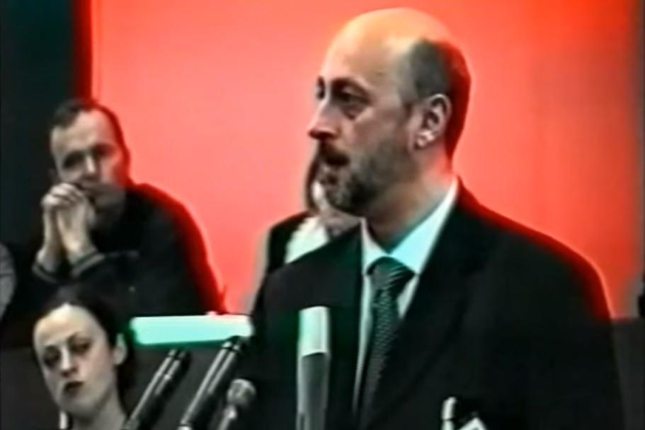 Lider Narodne stranke Dragan Šoć tokom stranačkog sastanka (Foto: Snimak ekrana/Jutjub)