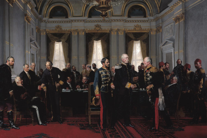 """Anton fon Verner, """"Berlinski kongres 13. jul 1878."""" (Foto: Senatskanzlei Berlin/dhm.de)"""