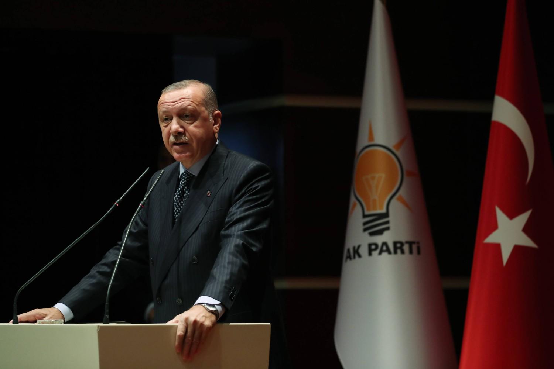 Turski predsednik Redžep Tajip Erdogan tokom govora na sastanku AKP-a (Foto: Cem Öksüz/Anadolu Ajansı)