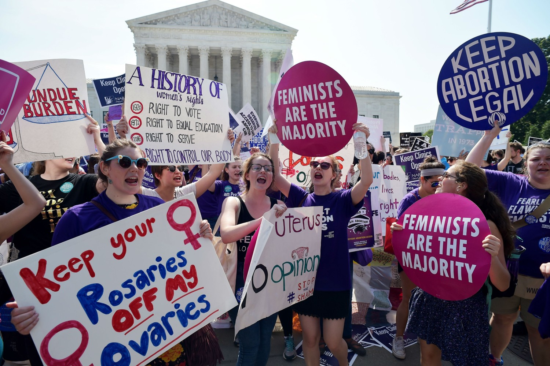 Feministički skup podrške pravu na abortus u Vašingtonu, 27. jun 2016. (Foto: Mandel Ngan/AFP/Getty Images)