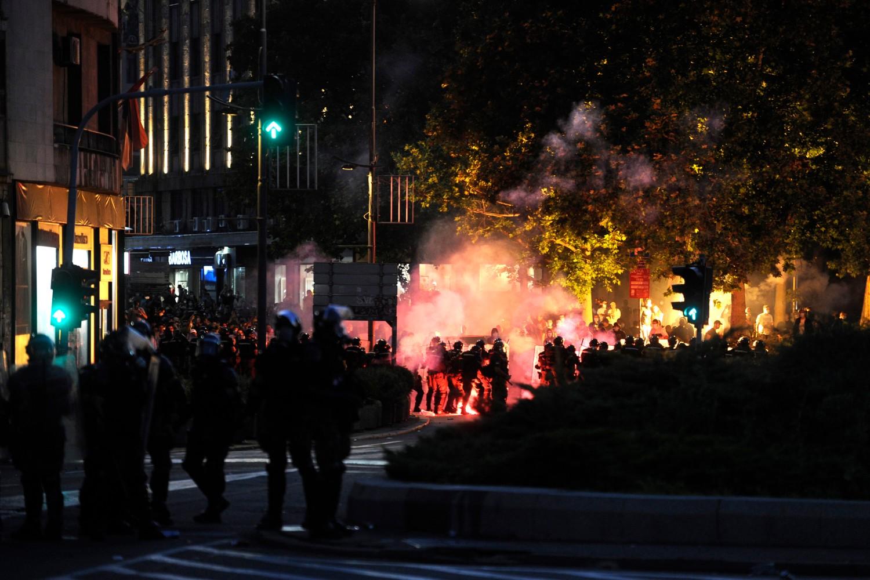 Sukobi između demonstranata i policije kod Trga Nikole Pašića u Beogradu, 08. jul 2020. (Foto: Tanjug/Tara Radovanović)