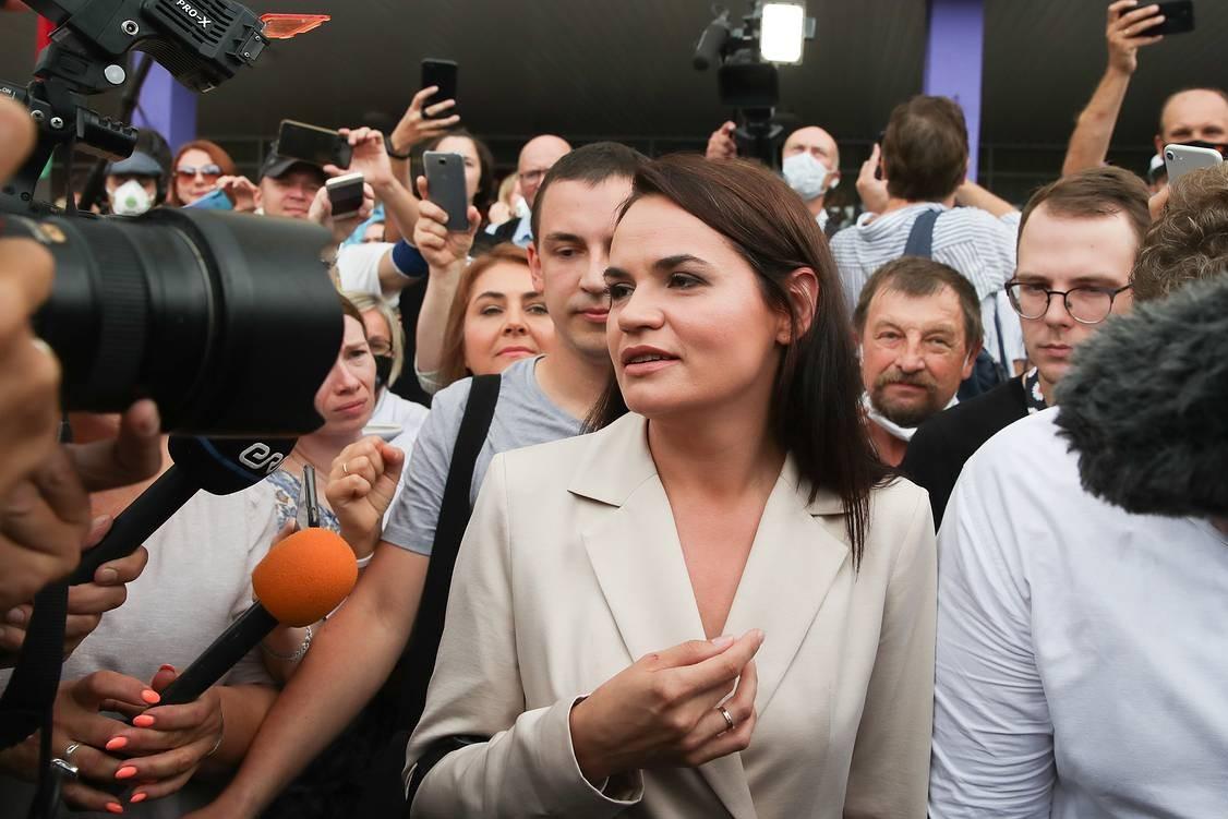 Opozicioni predsednički kandidat Svetlana Tihanovska (Foto: Nataliя Fedosenko/TASS)