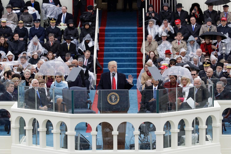 Donald Tramp tokom inauguracionog govora nakon izbora na mesto predsednika SAD, Vašington, 20. januar 2017. (Foto: AP Photo/Patrick Semansky)