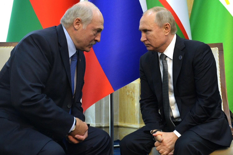 Predsednik Belorusije Aleksandar Lukašenko tokom sastanka sa predsednikom Rusije Vladimirom Putinom na marginama samita Šangajske organizacije za saradnju, Biškek, 14. jun 2019. (Foto: kremlin.ru)