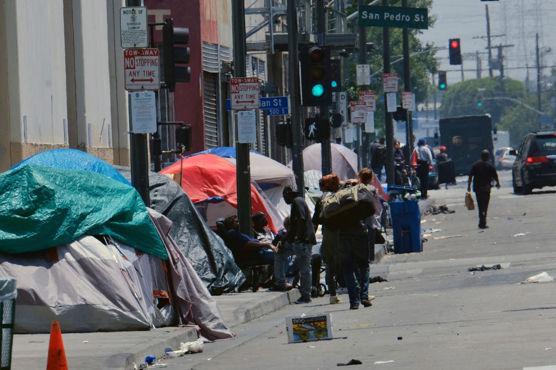 Šatori beskućnika na ulicama Los Anđelesa, 30. maj 2019. (Foto: AP Photo/Richard Vogel)