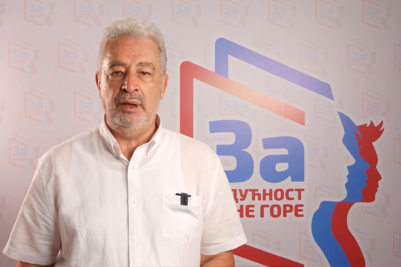 """Zdravko Krivokapić, nosilac narodne koalicije """"Za budućnost Crne Gore"""" (Foto: Snimak ekrana/Jutjub)"""