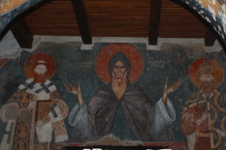 Freska Stefana Nemanje u Crkvi Bogordice Ljeviške u Prizrenu (Foto: Katarina Steljić/Novi Standard)