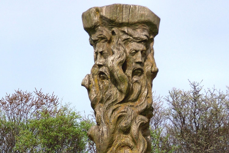 Statua Sventovita (Svetovida) na rtu Arkona na ostrvu Rigen u Nemačkoj (Foto: Wikimedia/Lapplaender)