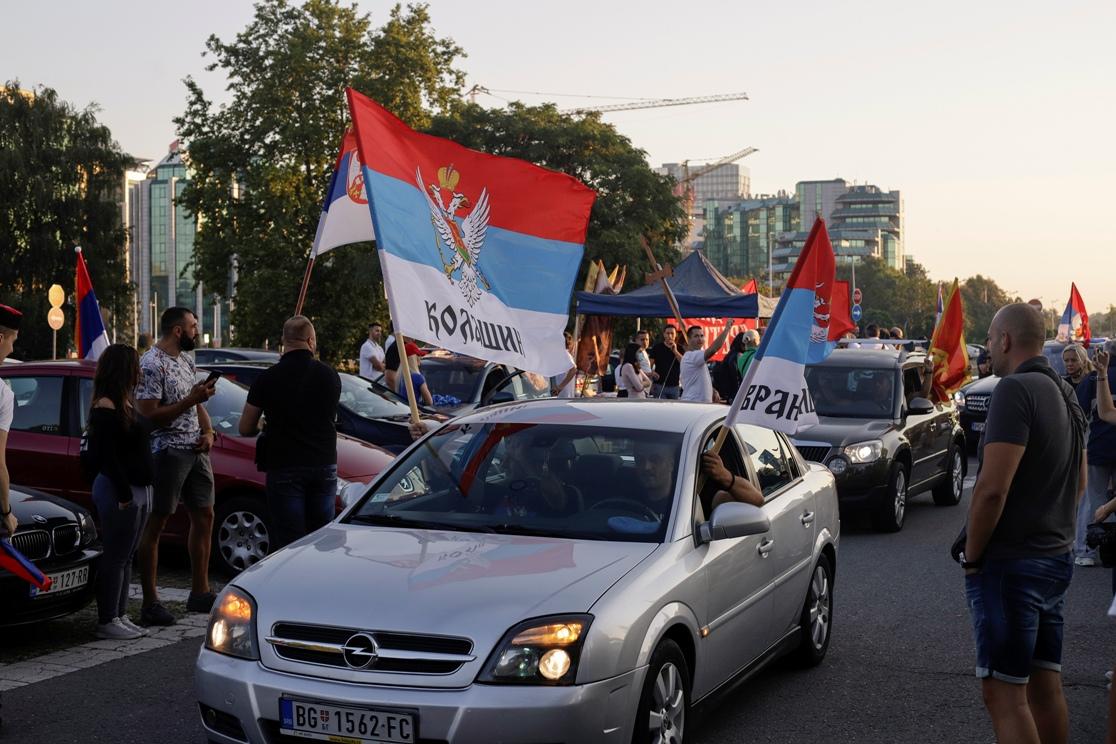 Auto-litija koja je krenula iz Beograda, a stigla do granice sa Crnom Gorom (Foto: Tanjug/Andrija Vukelić)