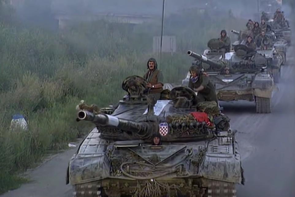 Tenkovi Hrvatske vojske tokom operacije Oluja 1995. (Foto: Snimak ekrana/Jutjub)