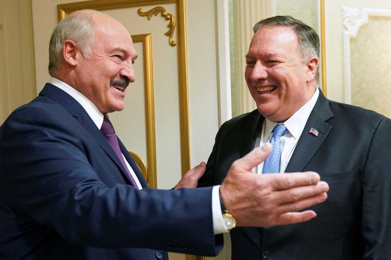 Predsednik Belorusije Aleksandar Lukašenko tokom sastanka sa državnim sekretarom SAD Majkom Pompeom, Minsk, 01. februar 2020. (Foto: Reuters/Kevin Lamarque/Pool)