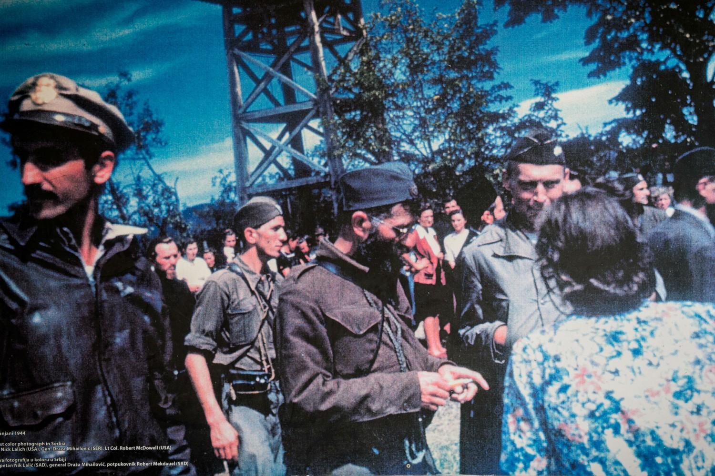 Dragoljub Mihailović u Pranjanima prilikom evakuacije američkih pilota 1944. godine (Foto: U.S. Air Force photo by Tech. Sgt. Ryan Crane)