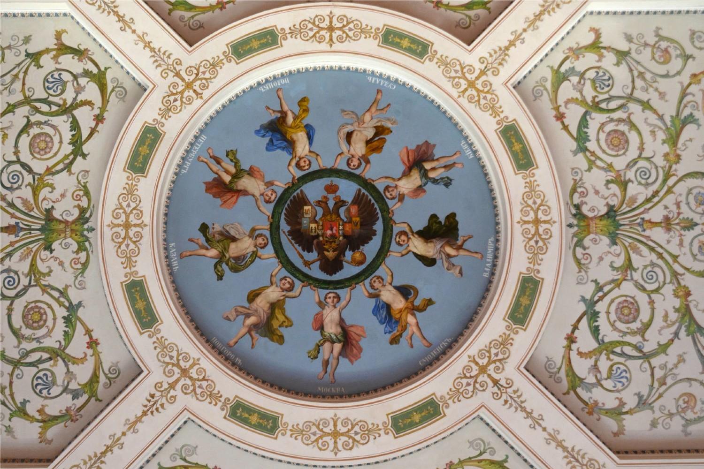 Unutrašnjost u jednoj od prostorija u muzeju Ermitaž u Sankt Peterburgu (Foto: all-free-photos.com)
