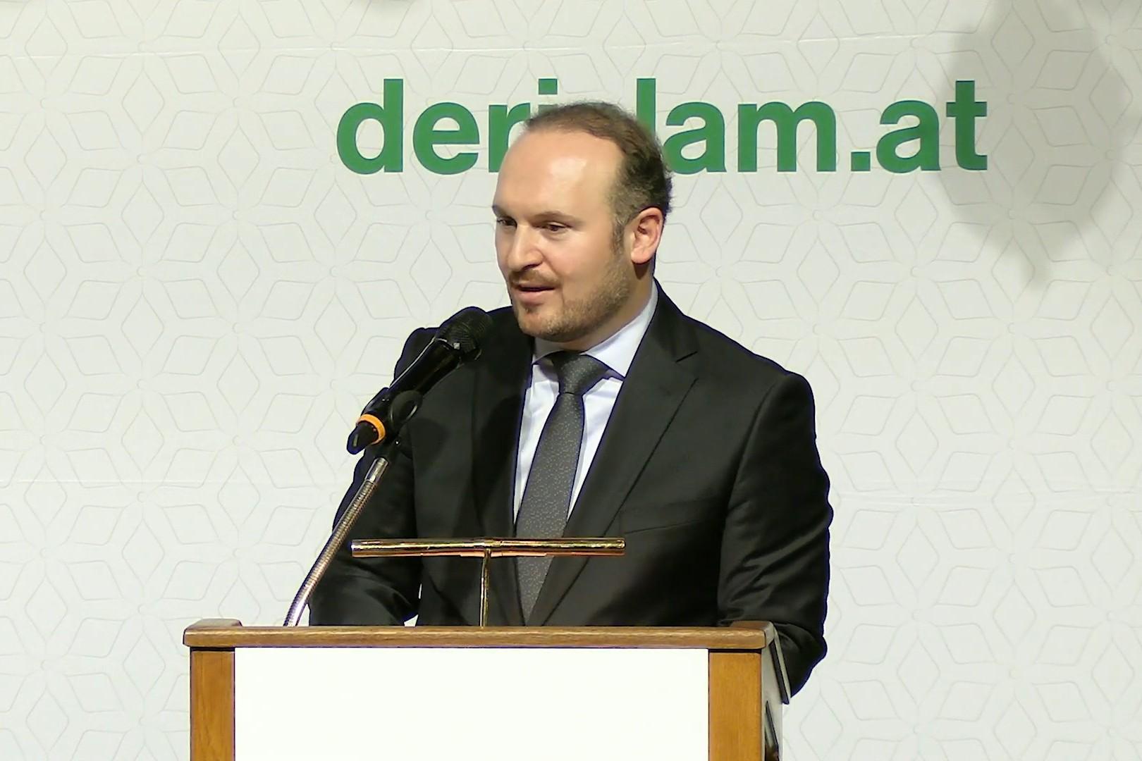 Predsednik IGGÖ Umit Vural tokom govora na skupu posvećenom 40. godišnjici IGGÖ, Beč, 19. novembar 2019. (Foto: Snimak ekrana/Jutjub)