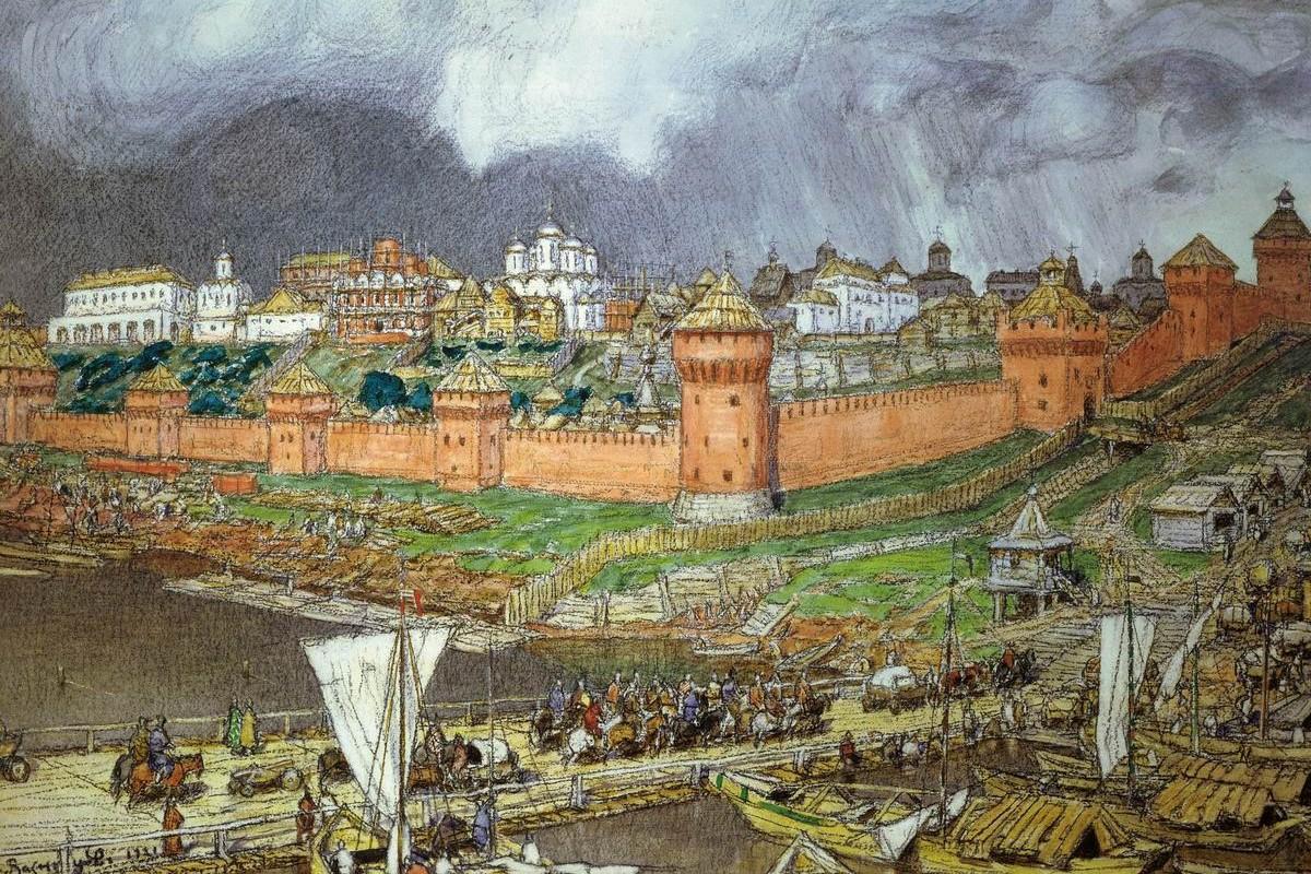 "Apolinari Vaznjecov, ""Moskovski Kremlj u doba Ivana III"", 1921. (Foto: Wikimedia/Vladislav Rezvый/vasnec.ru)"