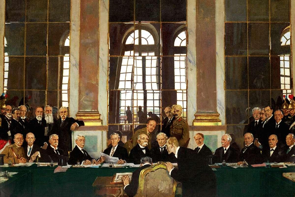 "Vilijam Orpen, ""Potpisivanje mira u Sali ogledala"", Versaj, 28. jun 1919. (Foto: Wikimedia/Imperial War Museum Collections)"