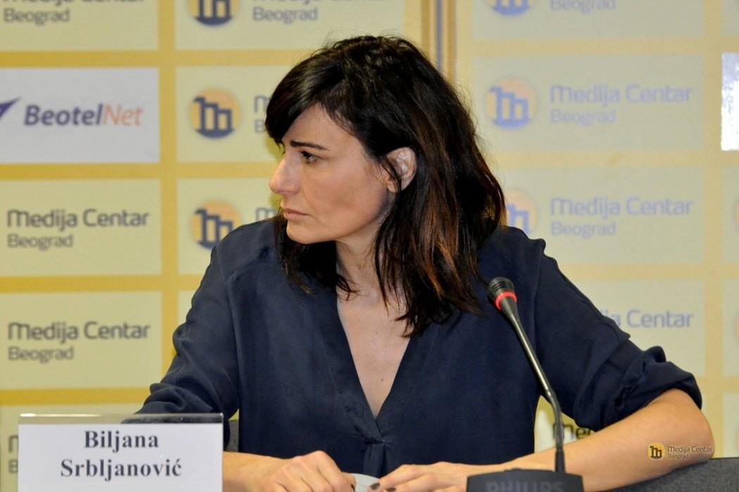 Dramska spisateljica Biljana Srbljanović (Foto: Medija centar Beograd)