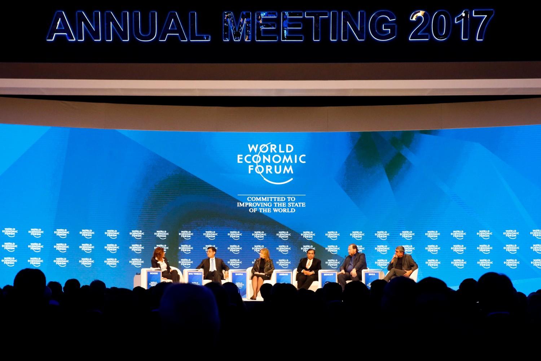 Jedna od panel diskusija na Svetskom ekonomskom forumu u Davosu 2017. godine (Foto: Ruben Sprich/Reuters)