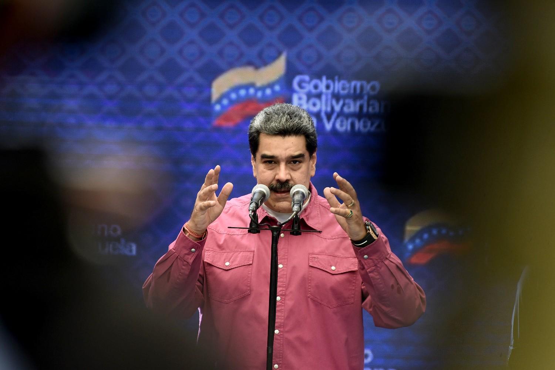 Predsednik Venecuele Nikolas Maduro tokom govora nakon glasanja u jednoj školi, Karakas, 06. decembar 2020. (Foto: Carolina Cabral/Getty Images)