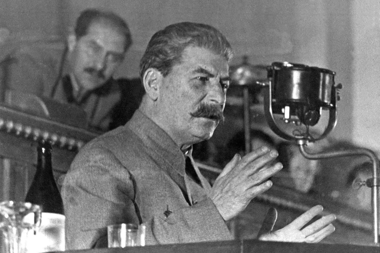 Josif Visarionovič Džugašvili Staljin tokom govora u Kremlju, 01. januar 1936. (Foto: AP Photo)