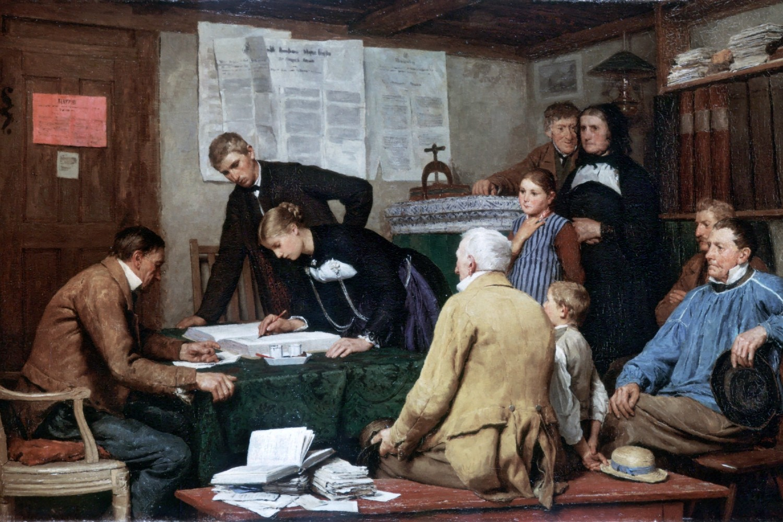 "Albert Anker, ""Građanski brak"", 1887. (Foto: Wikimedia/bildindex.de)"