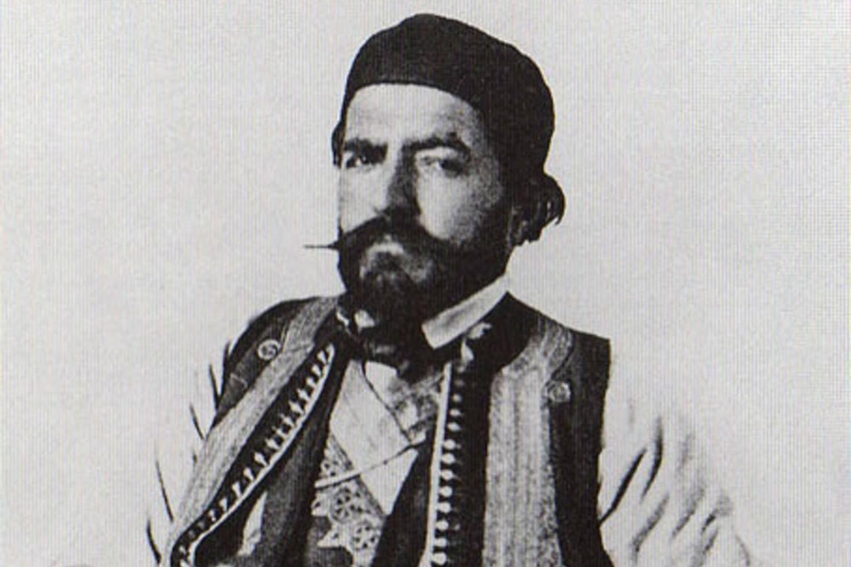 """Anastas Jovanović, """"Petar II Petrović Njegoš , pesnik i vladika"""", 1851. (Foto: Wikimedia/staresrpskeslike.com)"""