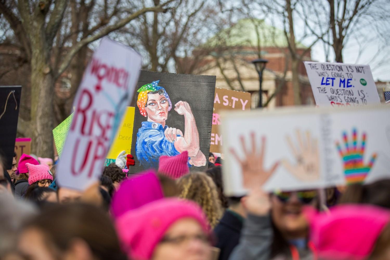 Demonstranti tokom protesta za ženska prava u Kembridžu, Masačusets, 20. januar 2018. (Foto: Anibal Martel Pena/Anadolu Ajansı/Getty Images)