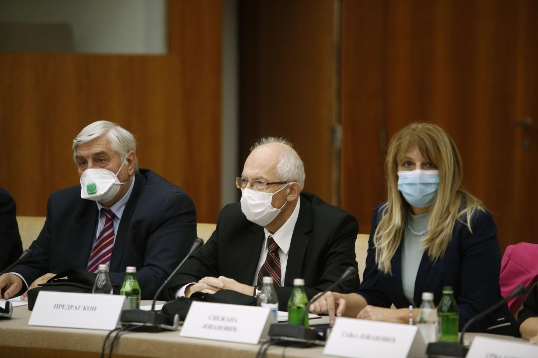 Deo članova Kriznog štaba tokom sednice (Foto: Tanjug/Nikola Anđić)