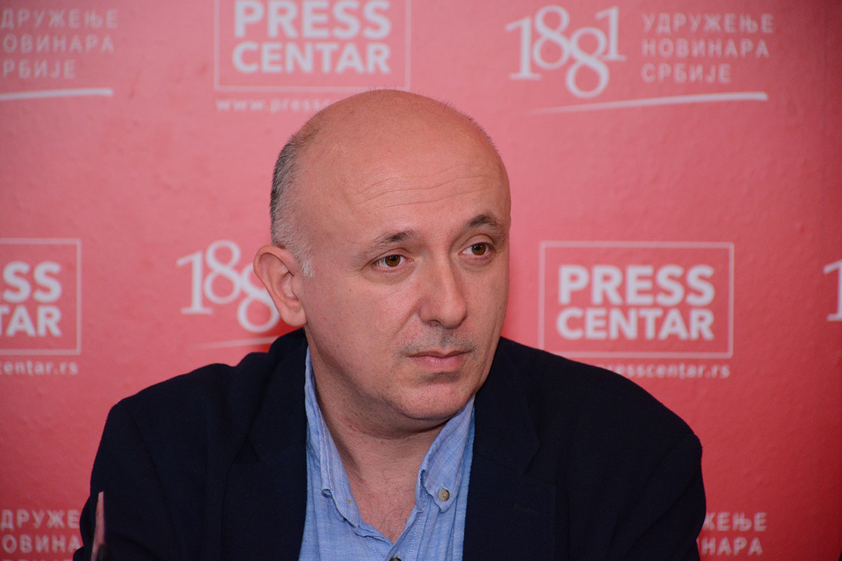 Vladimir Radomirović, predsednik Udruženje novinara Srbije (UNS) (Foto: presscentar.uns.org.rs)