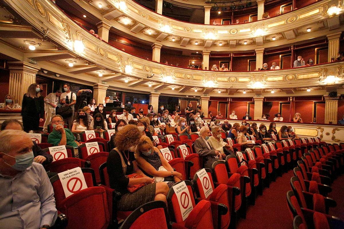 Publika u Narodnom pozorištu u Beogradu (Foto: Tanjug/Nikola Anđić)