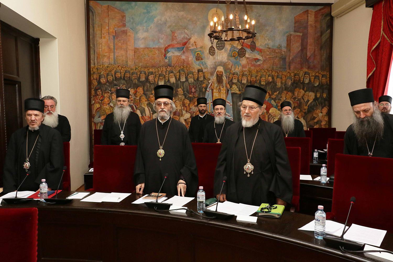 Zasedanje Svetog Arhijerejskog Sabora u Patrijaršijskom dvoru u Beogradu, 11. maj 2019. (Foto: spc.rs)