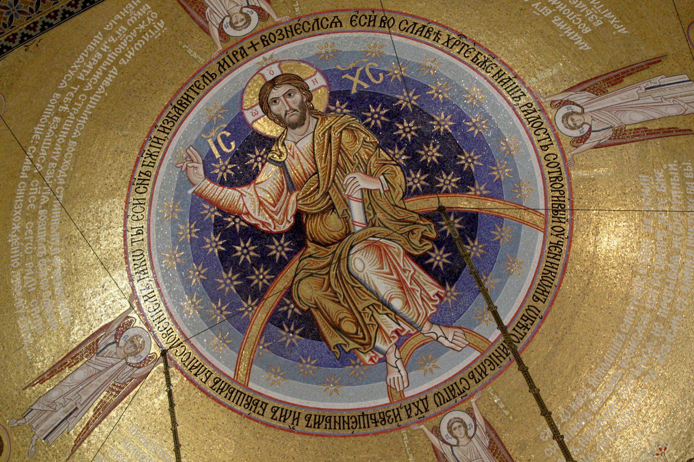 Mozaik Isusa Hrista na kupoli Hrama Svetog Save (Foto: Tanjug/Sava Radovanović)