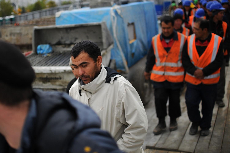 Radnici migranti na gradilištu u Moskvi (Foto: Karpov Sergei/ITAR-TASS/Landov)