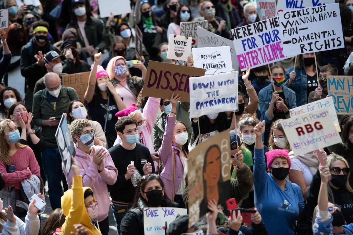 Žene tokom jednog protesta na Menhetnu, Njujork, 17. oktobar 2020. (Foto: Barry Williams/for New York Daily News)