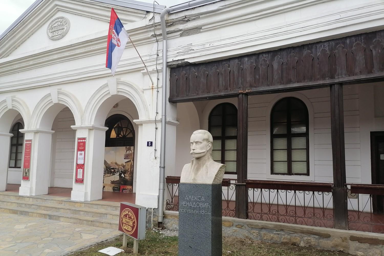 Bista Alekse Nenadovića ispred Narodnog muzeja u Valjevu (Foto: Radomir Jovanović/Novi Standard)