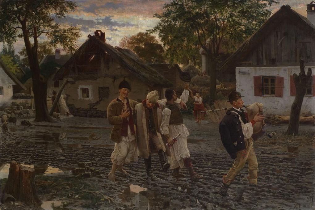 """Vesela braća"", Uroš Predić, 1887. (Foto: Wikimedia/Gmihail/Svift)"