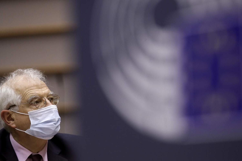 Високи представник Европске уније за спољну политику и безбедност Жозеп Борел током расправе у Европском парламенту поводом његове недавне посете Русији, Брисел, 09. фебруар 2021. (Фото: Olivier Hoslet, Pool via AP)