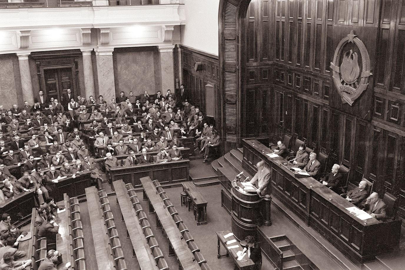 Zasedanje Savezne narodne skupštine 27. oktobara 1958. (Foto: Wikimedia/Večer, 126521)