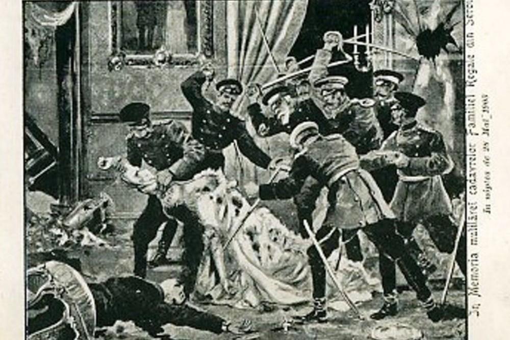 Prikaz ubistva kralja Aleksandara Obrenovića i kraljice Dragi tokom Majskog prevrata 1903. u jednim italijanskim novinama (Foto: Wikimedia)