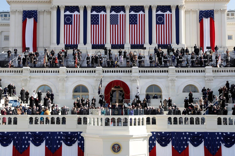 Novoizabrani američki predsednik Džo Bajden tokom svoje inauguracije, Vašington, 21. januar 2021. (Foto: Daniel Acker/Bloomberg via Getty Images)