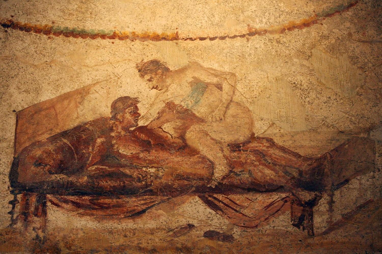 Ilustracija homoseksualnog čina iz vremena antičkog Rima u Pompeji (Foto: Mario Laporta via Getty Images)