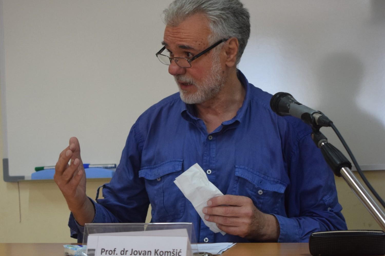 Prof. dr Jovan Komšić sa Univerziteta u Novom Sadu (Foto: fpn.bg.ac.rs)
