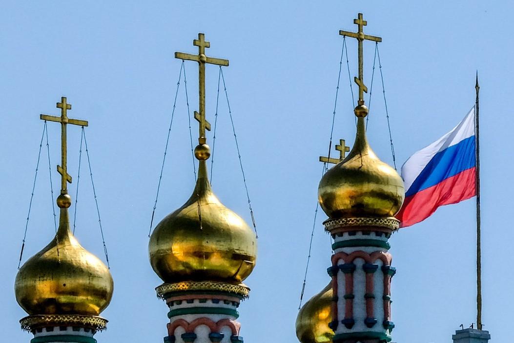 Krstovi na vrhu crkve u Moskvi (Foto: Yuri Kadobnov/AFP via Getty Images)