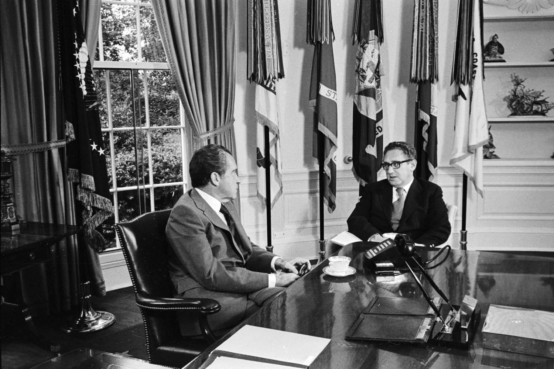 Američki predsednik Ričard Nikson i državni sekretar Henri Kisindžer tokom razgovora u Beloj kući, Vašington, 01. oktobar 1973. (Foto: Wikimedia/Flickr/The Central Intelligence Agency)