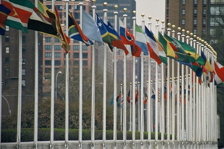 Zastave država članica Ujedinjenih nacija ispred sedišta u Njujorku (Foto: Wikimedia/I, Aotearoa, CC BY-SA 3.0)