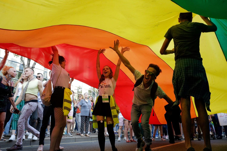 Scena sa Parade ponosa u Beogradu, 15. septembar 2019. (Foto: Tanjug/Andrija Vukelić)